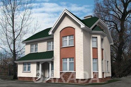 Дом из красного кирпича 13 х 13. Площадью 168,8 м2,  Москва