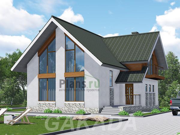 Каркасный дом с витражными окнами,  Москва