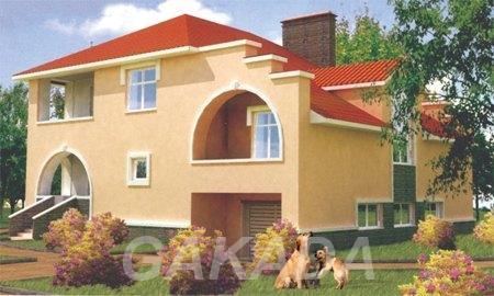 Двухэтажный кирпичный дом в стиле модерн,  Москва