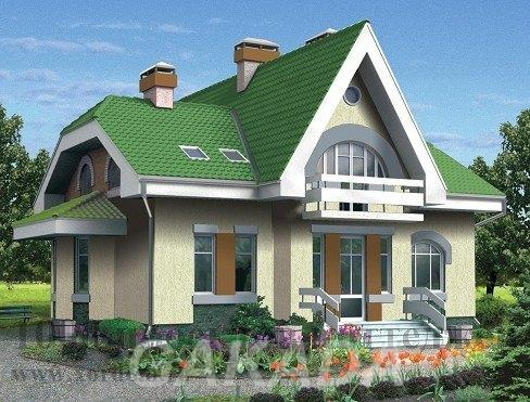 Кирпичный двухэтажный дом на 190 кв м в стиле модерн,  Москва