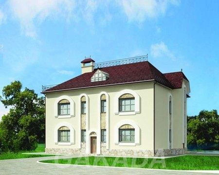 План двухэтажного дома разделённые комнаты,  Москва