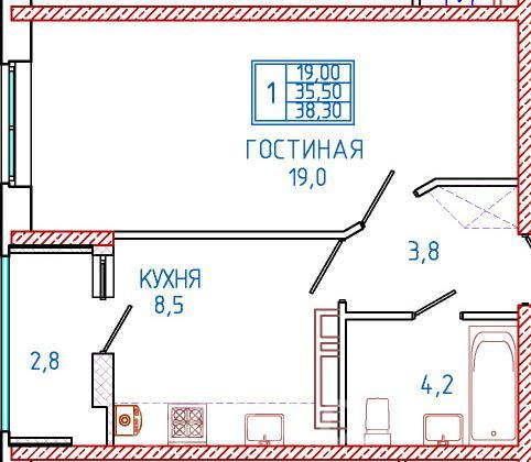 Продаю 1-комн квартиру 38 кв м,  Ставрополь