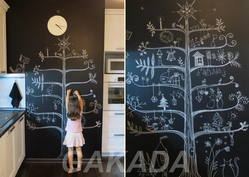 Меловые и маркерные обои для детей и взрослых,  Москва