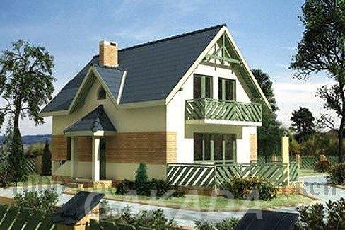 Красивый двухэтажный кирпичный дом 10 х 6 м,  Москва