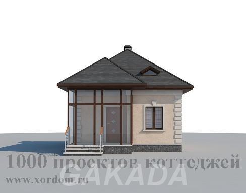 Проект компактного кирпичного дома с мансардой,  Москва