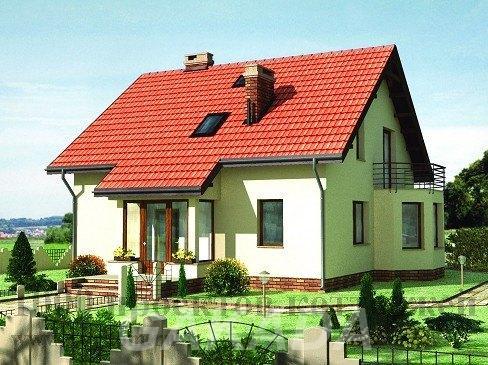 Проект кирпичного двухэтажного дома с эркером и балконом н,  Москва