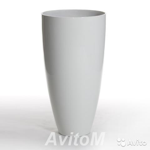 Кашпо senza vase large white, D64xH120,  Москва