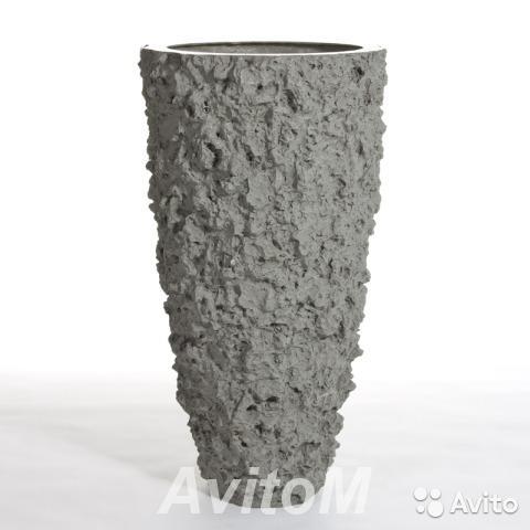 Кашпо vase buoy lava grey, D62xH110,  Москва