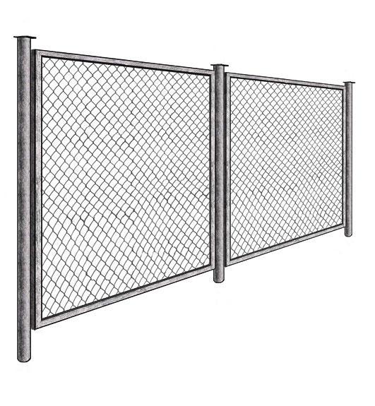 Продам секции заборные из сетки рабица и металлических прутьев,  Калуга