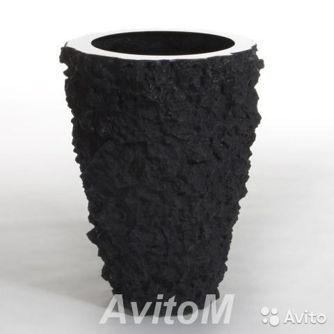 Кашпо vase buoy lava black, D52xH70,  Москва