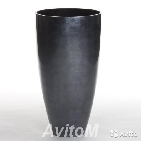 Кашпо senza vase small dark silver, D40xH75,  Москва