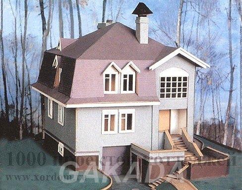 Проект трёхэтажного кирпичного дома в стиле классицизма,  Москва