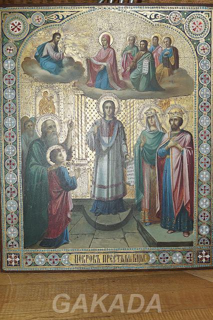 Икона Покров Пресвятой Богородицы XIX век,  Санкт-Петербург