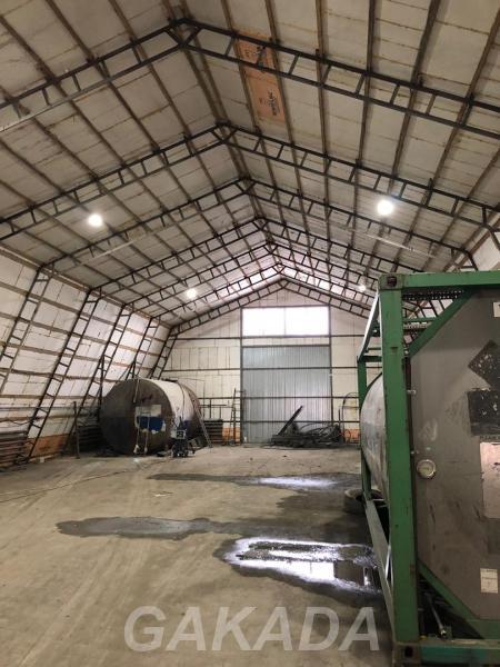 Теплый ангар 600м2 в аренду на охраняемой территории, Кинель