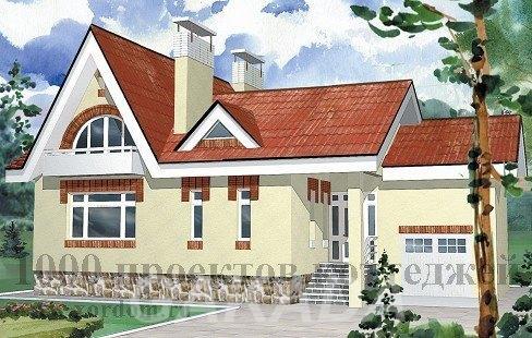 Двухэтажный кирпичный дом в стиле модерн до 150 кв м,  Москва