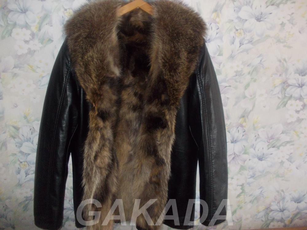 Куртка кожаная Италия мех волка, Вся Россия