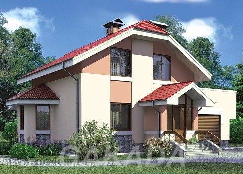 Двухэтажный кирпичный дом в классичсеком стиле с вальмовой,  Москва