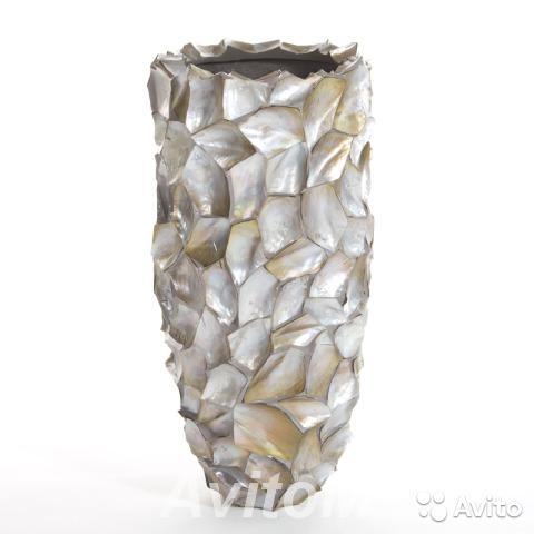 Кашпо vase crazycut brown lip shell Hefty,  Москва