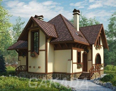 Кирпичный дом в германском стиле двухэтажный на 155 кв м,  Москва