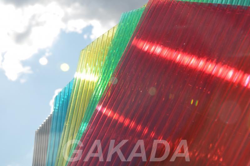 Поликарбонат сотовый в рулонах цветной прозрачный,  Ярославль
