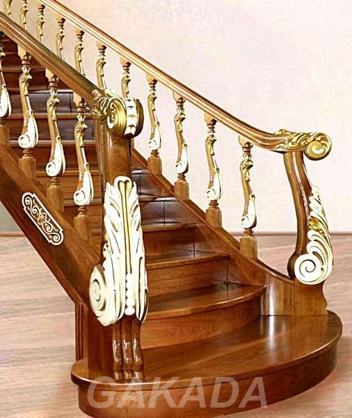 Лестница из массива дерева на заказ, Вся Россия