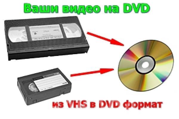 перегон с видео кассет на dvd диски,  Москва