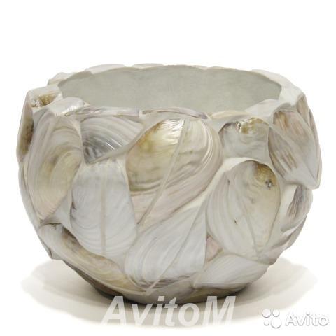 Кашпо Round bowl kabibe shell leaves Celebes,  Москва