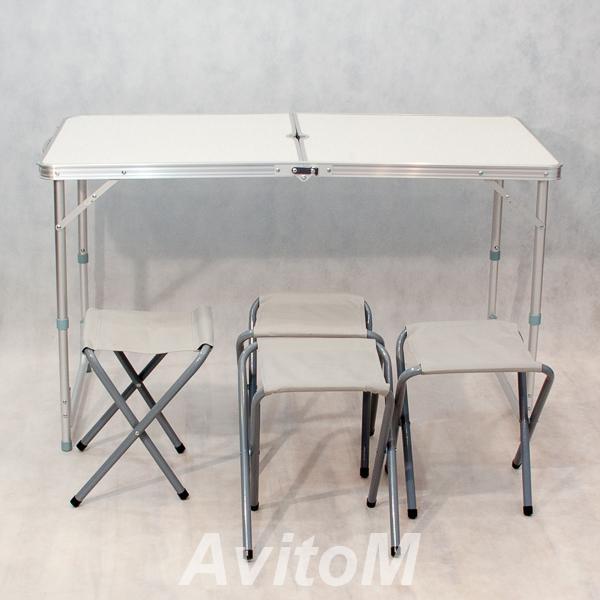 Комплект туристической мебели Стол складной четыре стула,  Москва