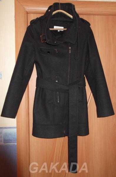 Пальто женское чёрное Bessini Италия,  Омск