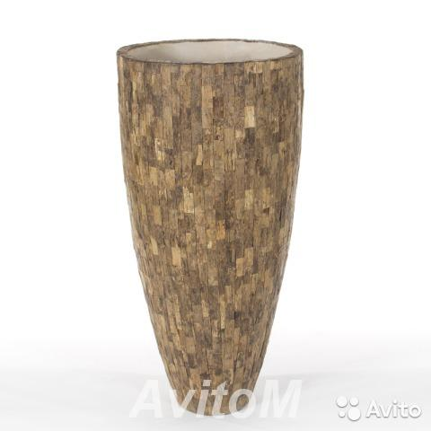 Кашпо Cemani Wood small, D43xH70,  Москва
