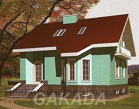 Проект трёхэтажного кирпичного дома на 169 кв м с эркером,  Москва