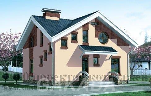 Проект двухэтажного кирпичного дома на 169 кв м с разнораз,  Москва