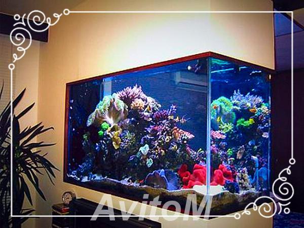 Производство аквариумов из стекла и акрила,  Москва