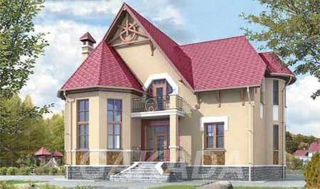 Проект дома из газобетона в романтическом стиле,  Москва