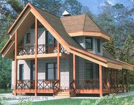 Проект двухэтажного кирпичного дома на 133 кв м в альпийск