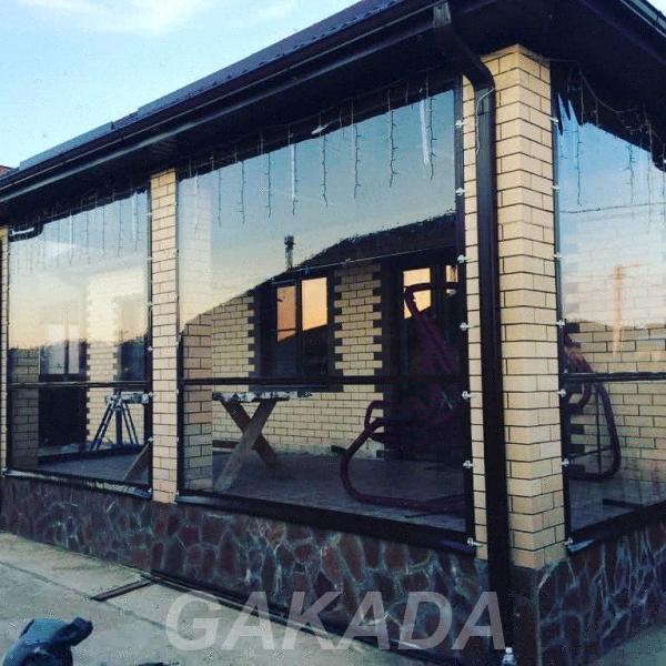 Мягкие окна для беседок террас и веранд из материалов ПВХ,  Краснодар