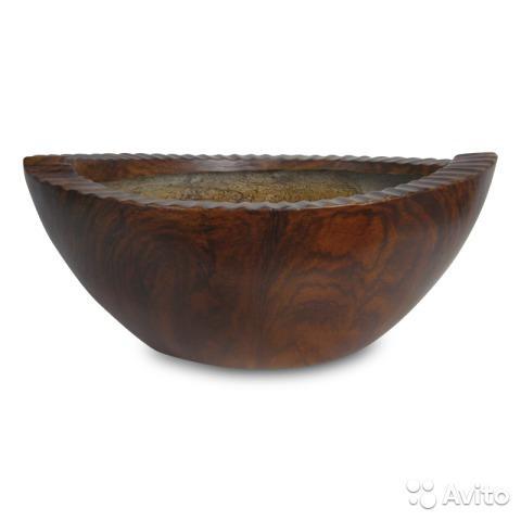 Кашпо Wood Bowl пластик , 34x19xН14см,  Москва