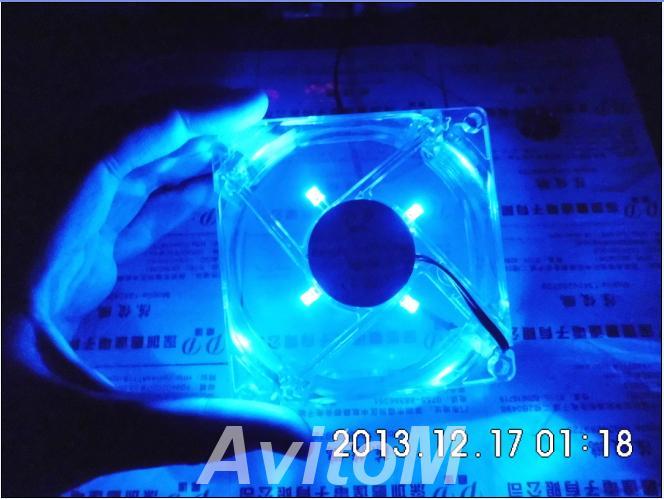 Компьютерный вентилятор кулер с светодиодами,  Хабаровск