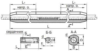 Зажимы соединительные САС-240-1,  Екатеринбург