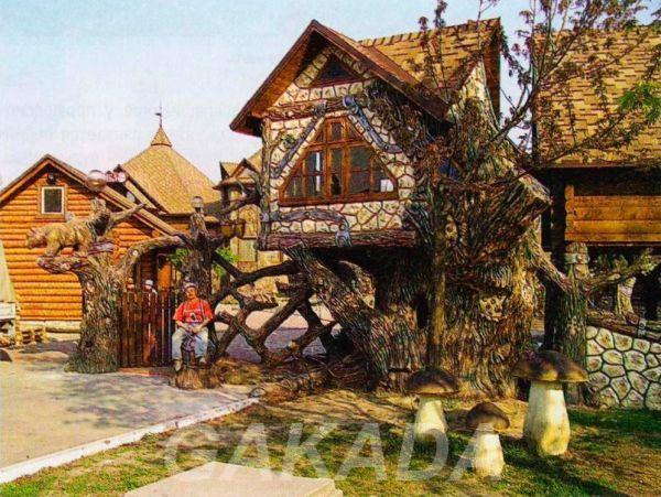 Строим кафе из веток и ствол, Вся Россия