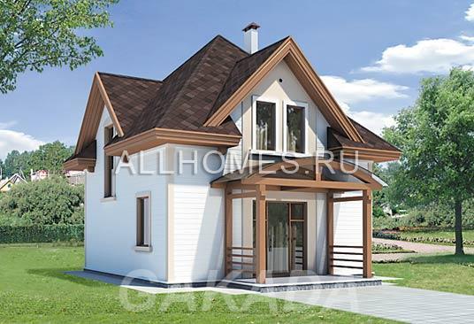 Проект каркасного дома 7 x 7 м,  Москва