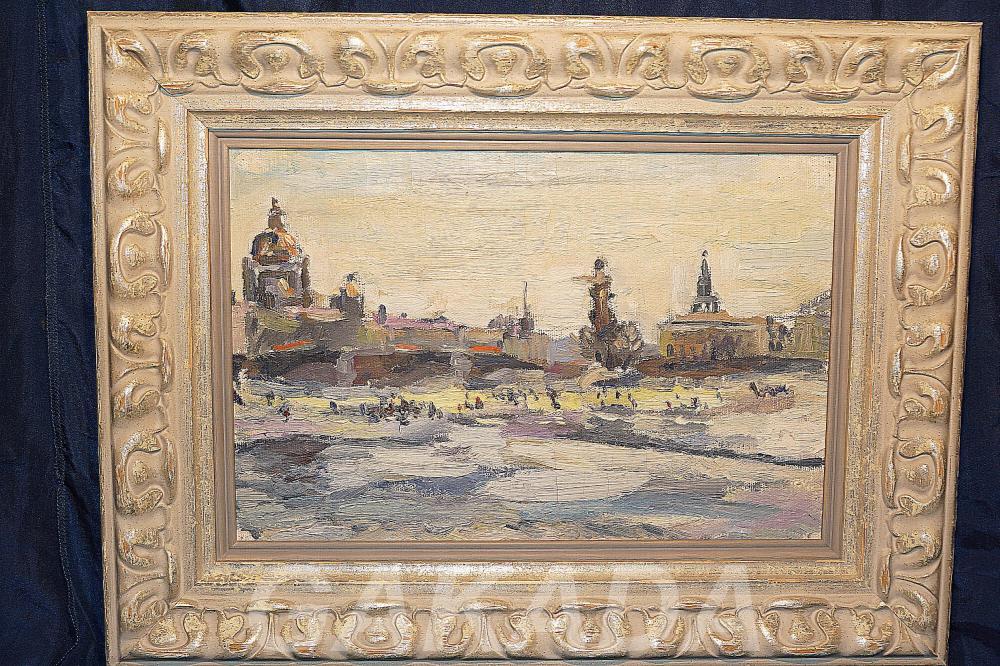 Картина обрамлена в оригинальную дизайнерскую раму, Вся Россия