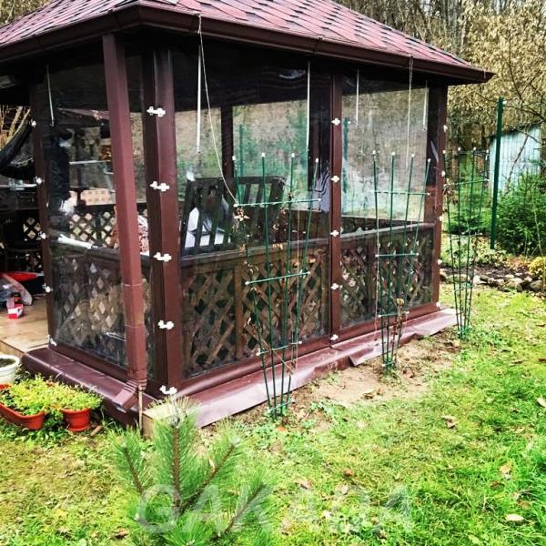 Защитные шторы мягкие окна для беседки веранды террасы,  Краснодар