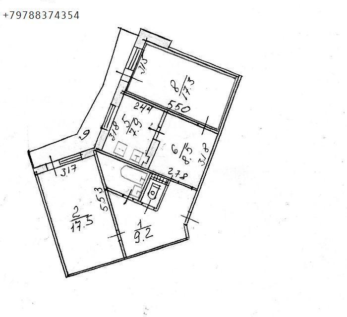 Продаю 2-комн квартиру 74 кв м, Симферополь