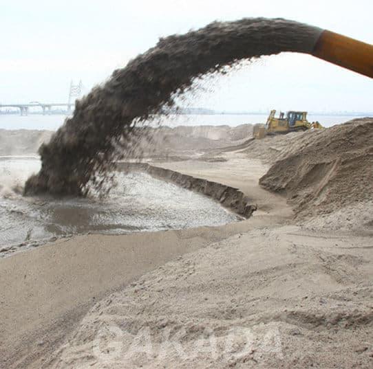 Добыча песка земснарядом,  Санкт-Петербург