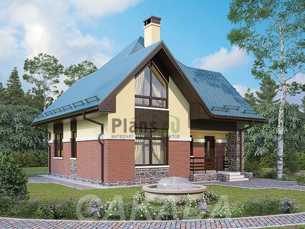 Проект каркасного двухэтажного дома,  Москва