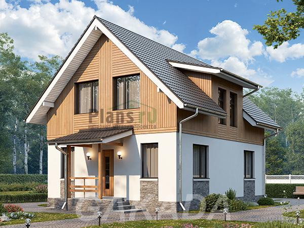 Проект каркасного дома около 100 кв,  Москва