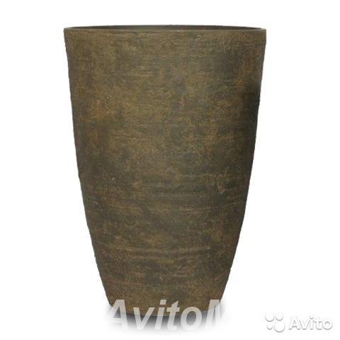 Кашпо Nobilis Marco Polystone Round Vase Ржавчина,  Москва