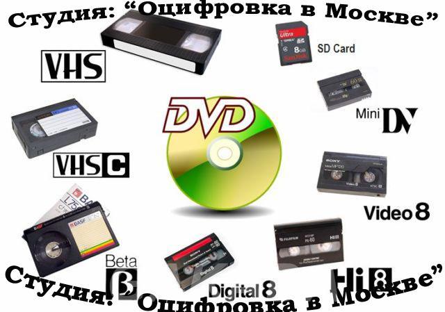 Оцифровка старых видео и аудио, фото и кинопленок на CD, DVD,  Москва
