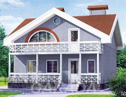 Проект кирпичного дома в скандинавском стиле с мансардой,  Москва